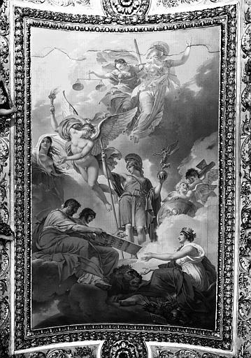 Appartements d'Anne d'Autriche, plafond peint de la salle de Mécène : L'An onze ou la Terre recevant les Lois