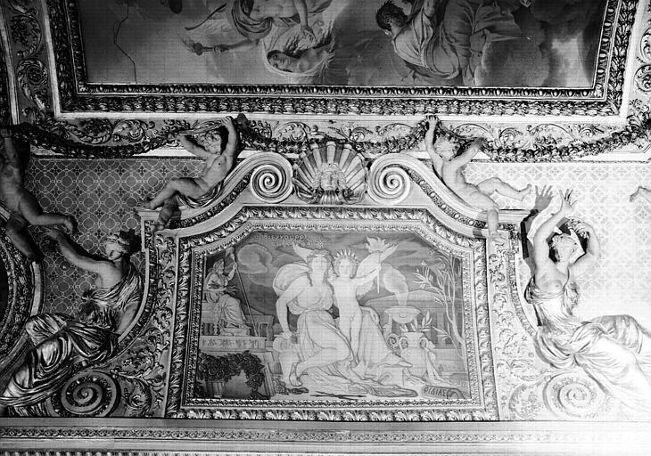 Panneau peint du plafond, côté nord-ouest