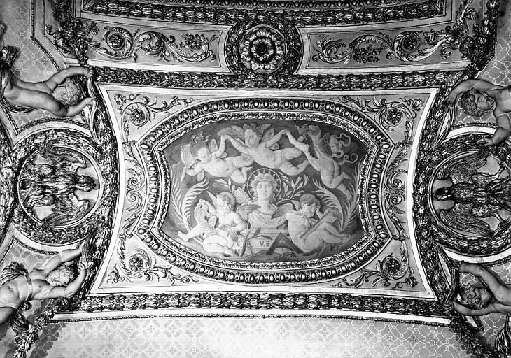 Panneau peint du plafond