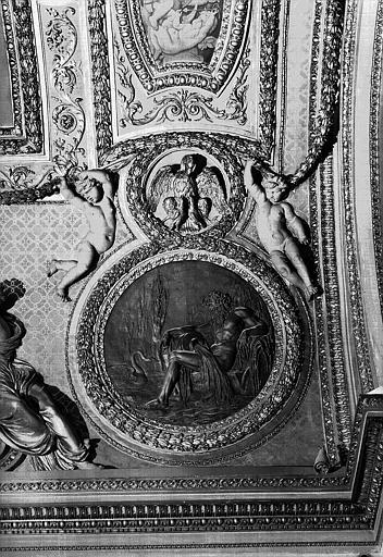Médaillon sculpté du plafond, côté ouest : L'Eridan