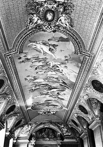 Salle d'Auguste : Vue d'ensemble du plafond