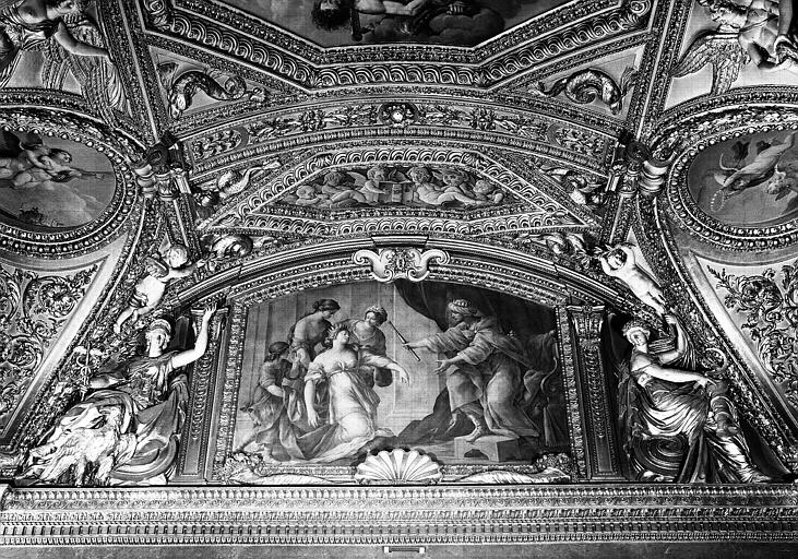 Appartements d'Anne d'Autriche, plafond peint de la Salle des Antonins (ancienne chambre)