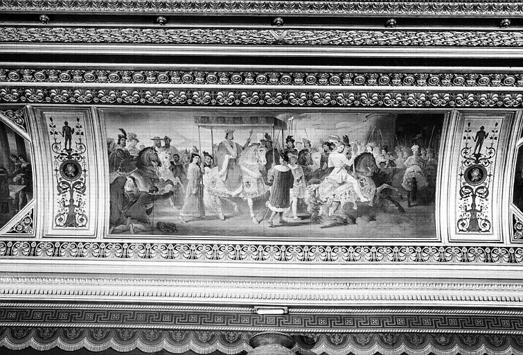 Galerie Campana, plafond peint de la 5e salle : Entrée triomphale de Charles VIII à Naples