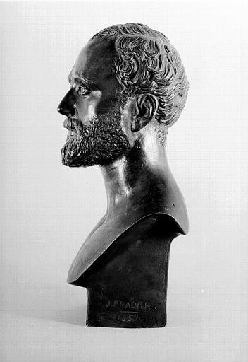 Buste en bronze : Portrait de Victor Chavet (profil)