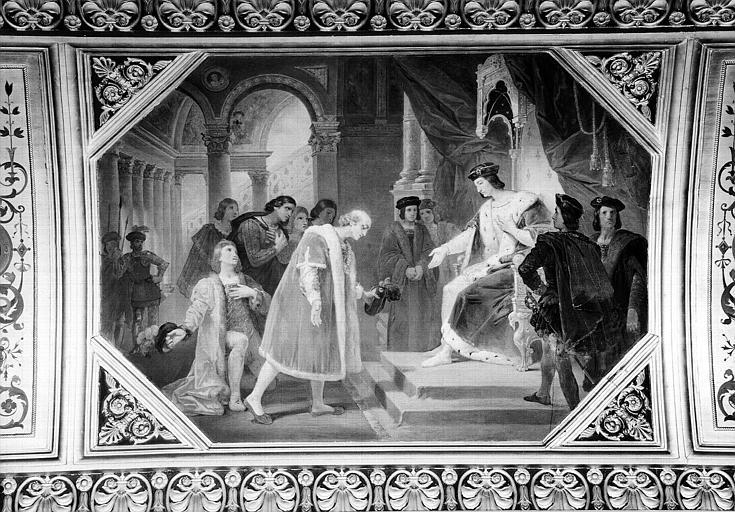 Galerie Campana, voussure peinte de la 5e salle : La Clémence de Louis XII