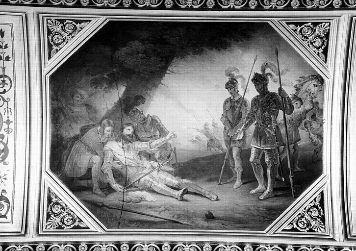 Galerie Campana, voussure du plafond peint de la 5e salle : La Mort de Bayard