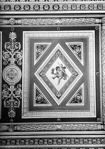 Galerie Campana, partie droite du plafond peint de la 5e salle : Putto