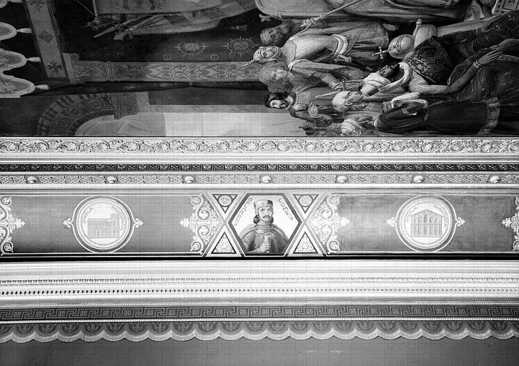 Galerie Campana, voussure ouest de la 7e salle : Le Comte Roland