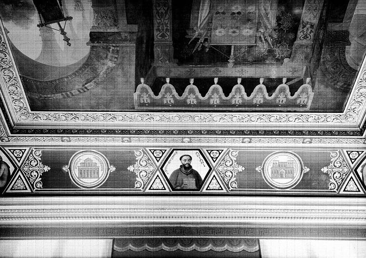 Galerie Campana, centre de la voussure sud de la 7e salle, centre de la voussure sud : Saint Benoît d'Aniane