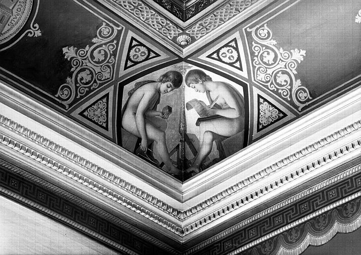 Galerie Campana, voussure à l'angle sud-ouest de la 7e salle : Génies des Sciences