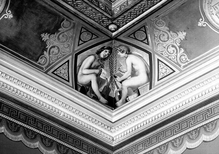 Galerie Campana, voussure à l'angle nord-ouest de la 7e salle : Génies de la Musique