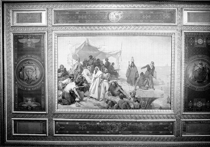 Galerie Campana, plafond peint de la 9e salle : Expédition d'Egypte sous les ordres de Bonaparte (vue d'ensemble)