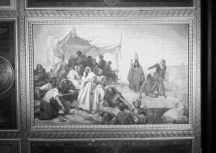 Galerie Campana, plafond peint de la 9e salle : Expédition d'Egypte sous les ordres de Bonaparte (vue du panneau central)