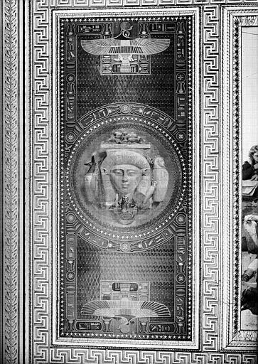 Galerie Campana, plafond peint de la 9e salle : Expédition d'Egypte sous les ordres de Bonaparte (panneau gauche)