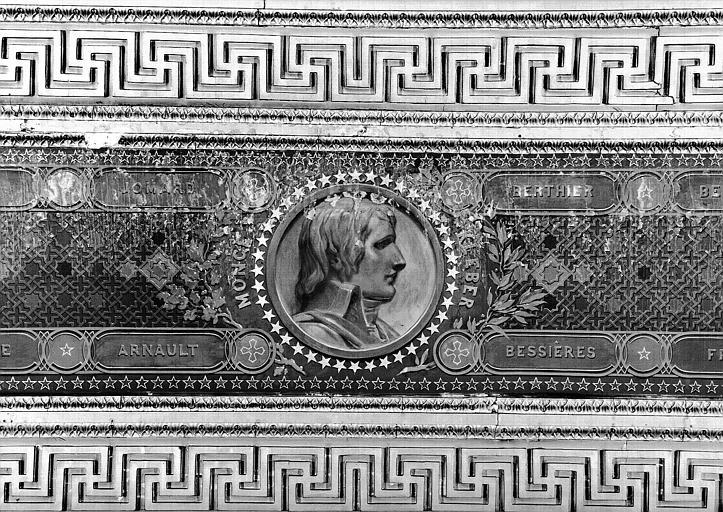 Galerie Campana, plafond peint de la 9e salle : Bonaparte (médaillon du caisson nord de l'Expédition d'Egypte sous les ordres de Bonaparte)
