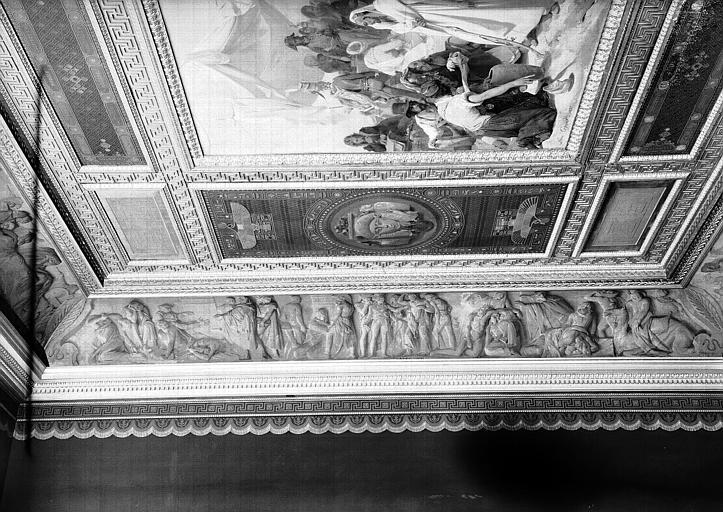 Galerie Campana, frise en bas-relief de la voussure ouest de la 9e salle : La Peste de Jaffa