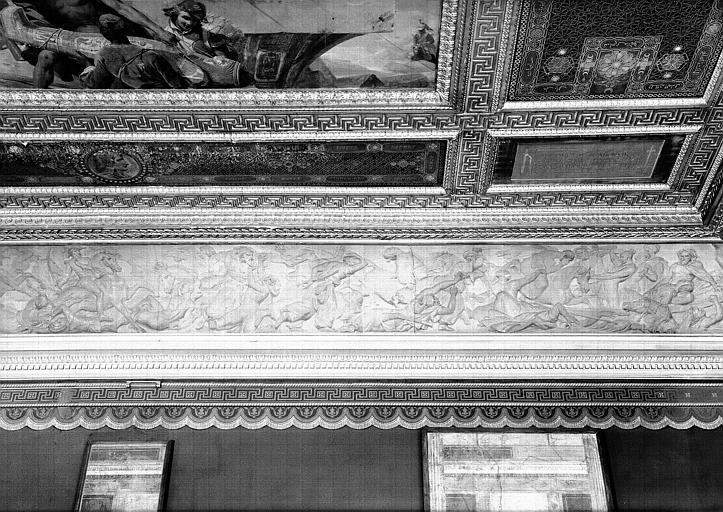 Galerie Campana, frise en bas-relief de la voussure nord de la 9e salle : La Bataille d'Aboukir (partie droite)