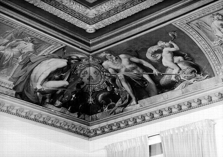 Salle Camondo, voussure à l'angle sud-ouest : Mars et Neptune