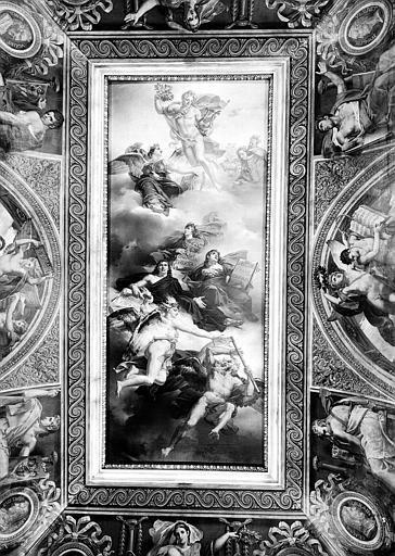 Salle Duchatel, plafond peint : Triomphe de la peinture française