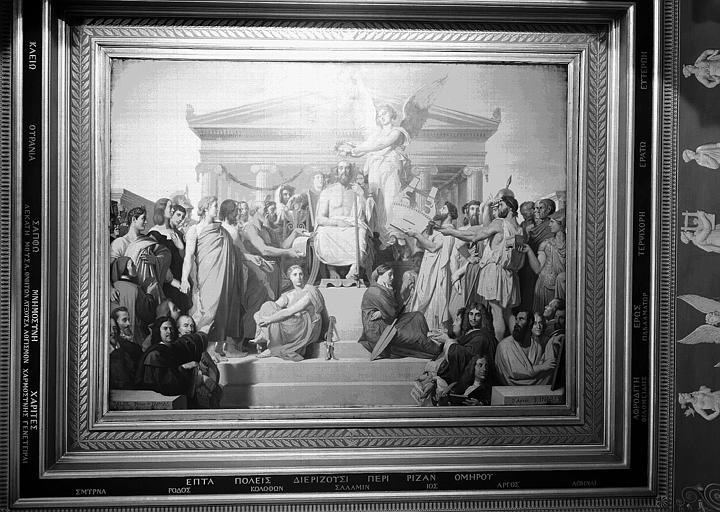 Salle Clarac, plafond peint : L'Apothéose d'Homère