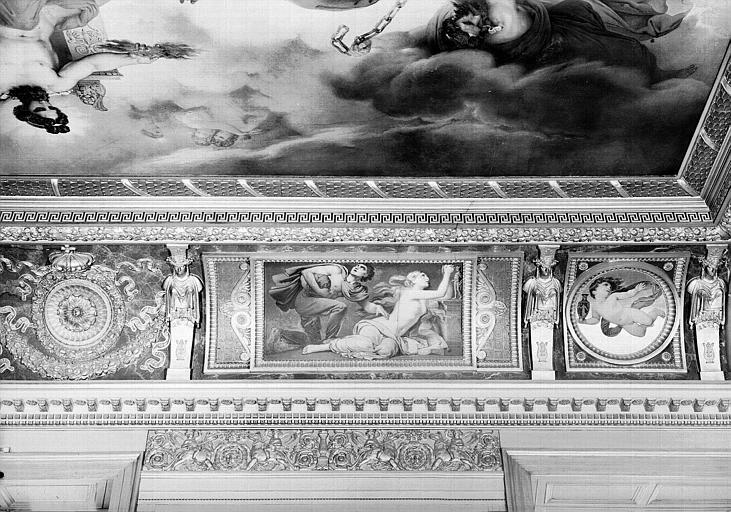 Galerie Charles X, voussure nord de la 8e salle (partie droite) : Couple dans la désolation implorant les Dieux