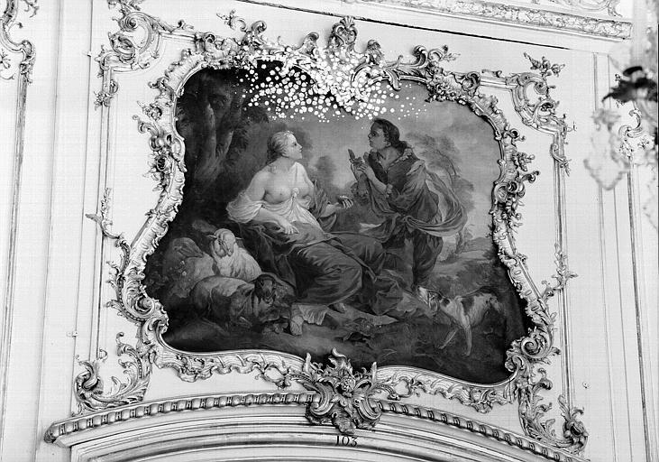Salon n° 106, panneau peint au-dessus d'une porte