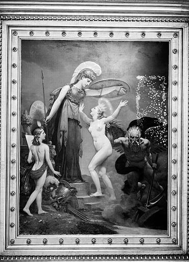 Galerie Charles X, plafond peint de la 5e salle : La Vérité accueillie sur le trône par Minerve