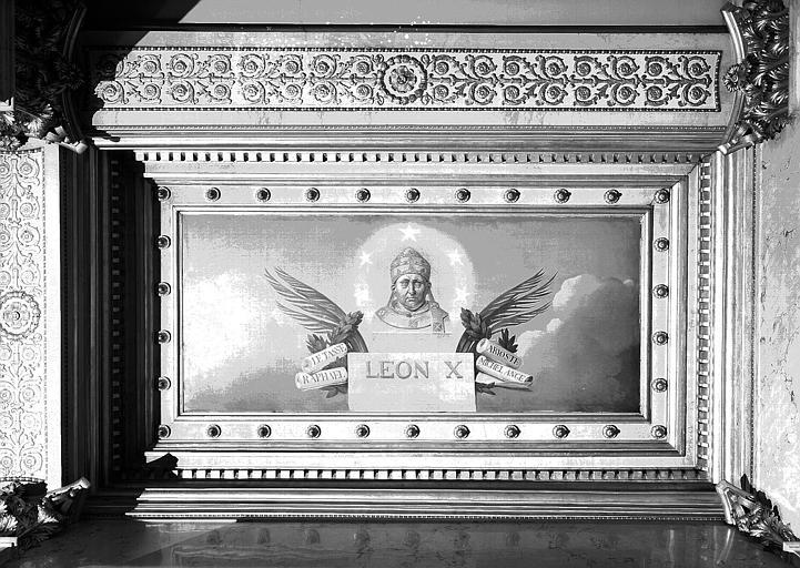 Galerie Charles X, plafond peint de la 5e salle (côté sud) : Léon X