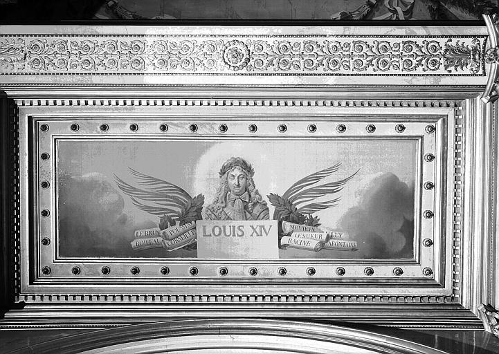 Galerie Charles X, plafond peint de la 5e salle (panneau central côté nord) : Louis XIV