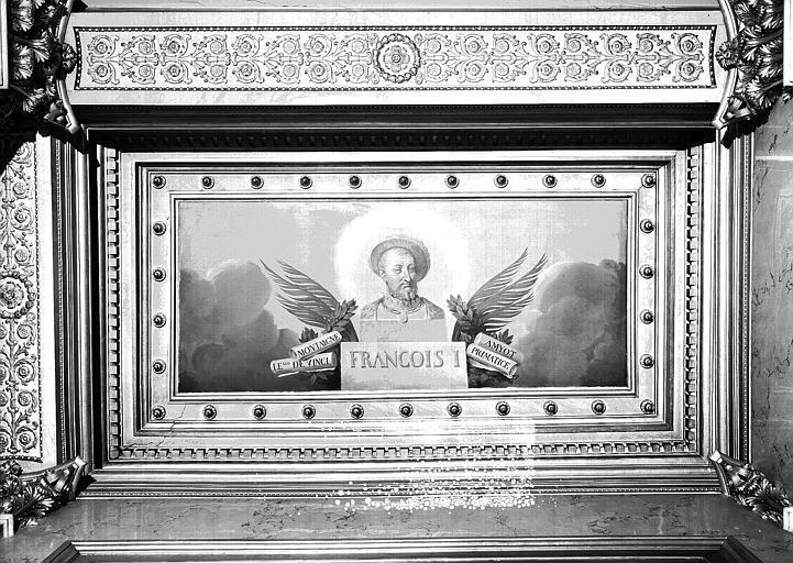Galerie Charles X, plafond peint de la 5e salle (côté nord) : François 1er