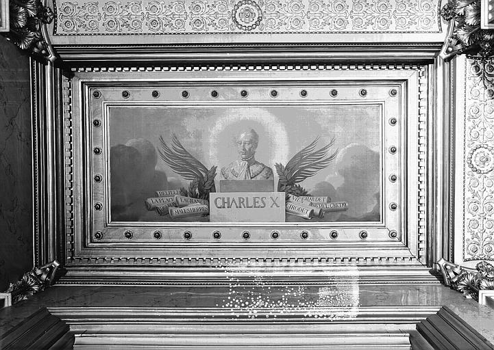 Galerie Charles X, plafond peint de la 5e salle (côté nord) : Charles X