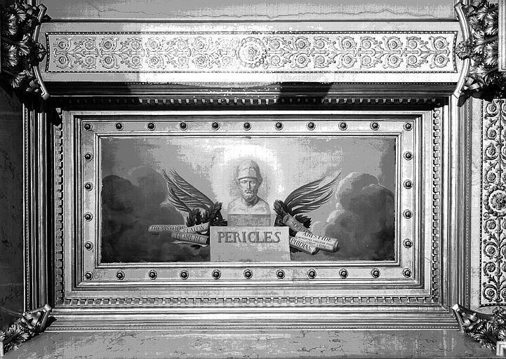 Galerie Charles X, plafond peint de la 5e salle (côté sud) : Périclès