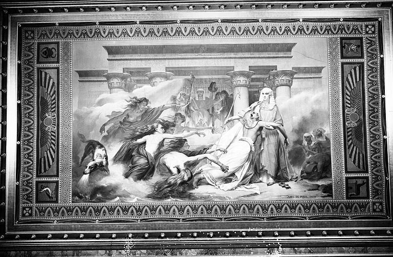 Galerie Charles X, plafond peint de la 3e salle : L'Egypte sauvée par Joseph