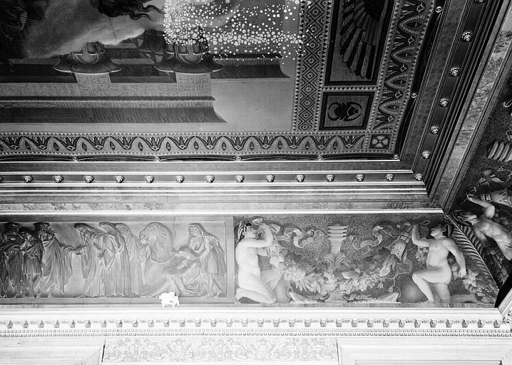 Galerie Charles X, voussure à l'angle nord-est de la 3e salle (partie droite) : Joseph vendu par ses frères
