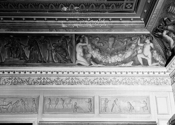 Galerie Charles X, voussure à l'angle sud-ouest de la 3e salle (partie droite)