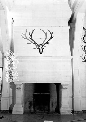 Salle Marion Soustes au 2e étage : Cheminée