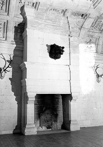 Salle des Chasses au 2e étage de la Tour Henri V : Cheminée