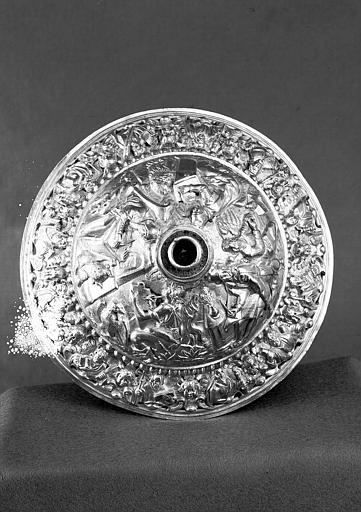 Calice en argent : Pied représentant les quatres évangélistes