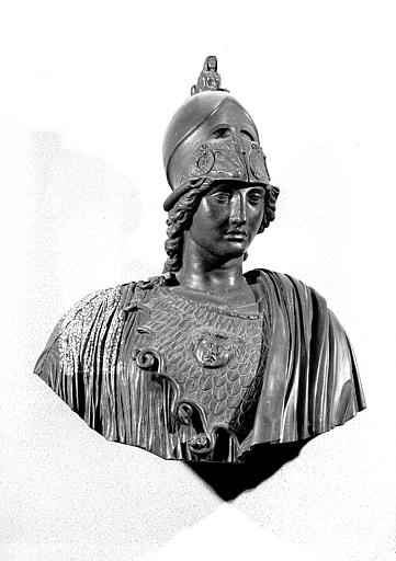 Buste de Minerve en bronze,