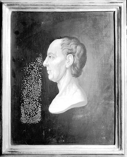 Panneau peint à la cire : Portrait de Euler
