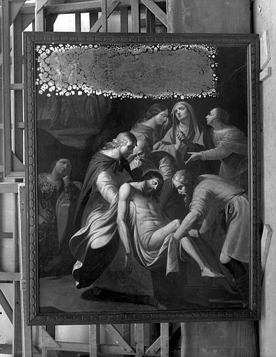 Peinture sur toile : Mise au tombeau