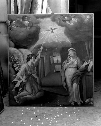 Peinture sur toile : L'Annonciation