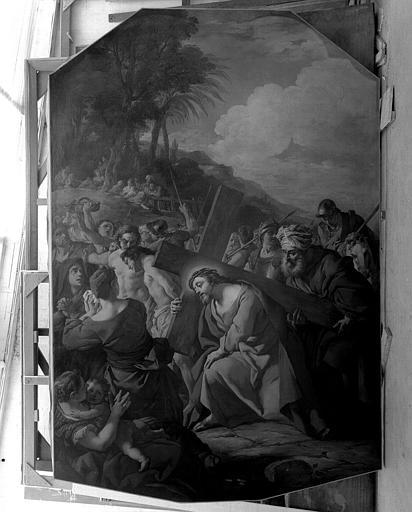 Peinture sur toile : Le Portement de Croix