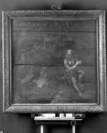 Panneau peint : Saint Paul Ermite