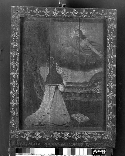 Panneau peint : Sainte Marguerite-Marie