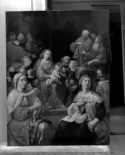 Panneau peint : Les Trois Marie