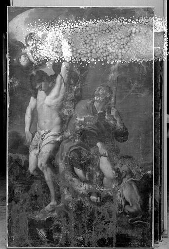 Peinture sur toile : Saint Sébastien et saint Roch