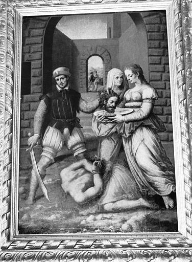 Tableau, cadre : Décollation de saint Jean-Baptiste