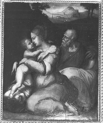 Tableau, cadre : sainte Famille (la)