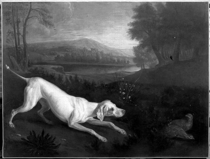 Peinture sur toile : Un chien